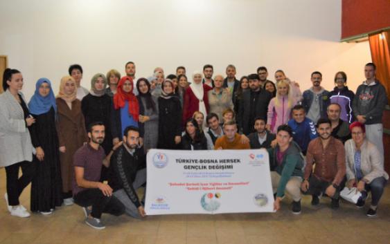 UPRILIČEN PRIJEM ZA MLADE IZ TURSKE U OKVIRU PROJEKTA RAZMJENE IZMEĐU BIH I TURSKE
